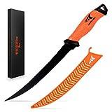 "KastKing Fillet Knife, Razor Sharp G4116 German Stainless-Steel Blade 5"" - 9"", Professional Level Knives for Filleting and Boning, Non-Slip Handles, Includes Protective Sheath."