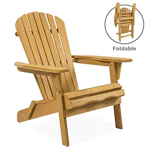 Pleasant Best Choice Products Folding Wood Adirondack Lounger Chair Accent Furniture For Yard Patio Garden W Natural Finish Brown Big Shopping Therapy Spiritservingveterans Wood Chair Design Ideas Spiritservingveteransorg