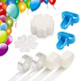 Coogam Balloon Decorating Strip Kit for Arch Garland 32Ft Balloon Tape Strip, 2 Pcs Tying Tool, 200 Dot Glue, 20 Flower Clip for Party Wedding Birthday Xmas Baby Shower DIY (Upgraded Version)