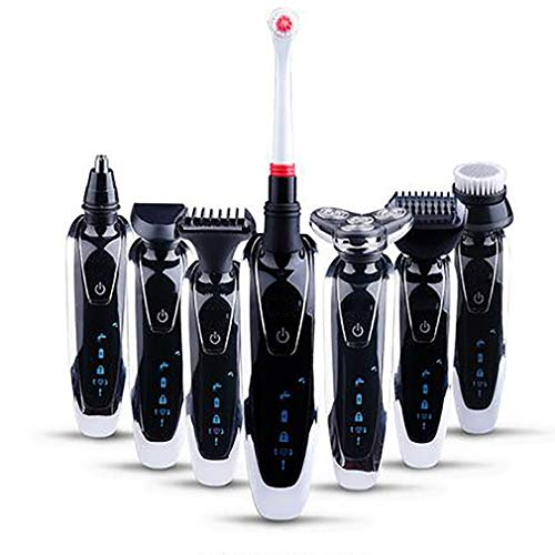 Electric Shaver 7In1 3D Rechargeable Washable Rotary Triple Floating Heads Shaver Men Razor Hair Ear Nose Trimmer