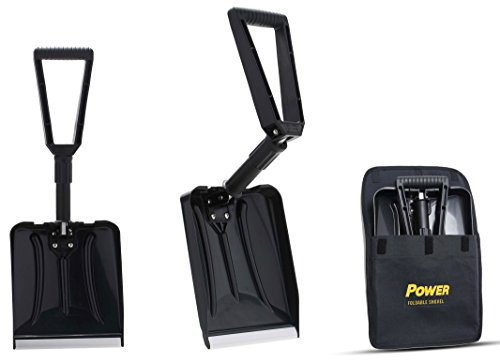 Power Foldable Shovel – Completely Collapsible Form 26' Overall Length 12.5' Compact Length (Black Color)