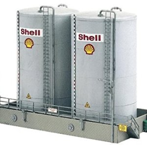 PIKO HO SCALE MODEL TRAIN BUILDINGS – SHELL STORAGE TANKS TALL – 61121 41QVOHNZY 2BL