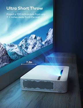 VAVA-4K-UHD-Laser-TV-Home-Theatre-Projector-Bright-2500-Lumens-Ultra-Short-Throw-HDR10-Built-in-Harman-Kardon-Sound-Bar-ALPD-30-Smart-Android-System-White