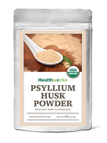 Healthworks Psyllium Husk Powder Raw Organic, 1lb : KETO-365