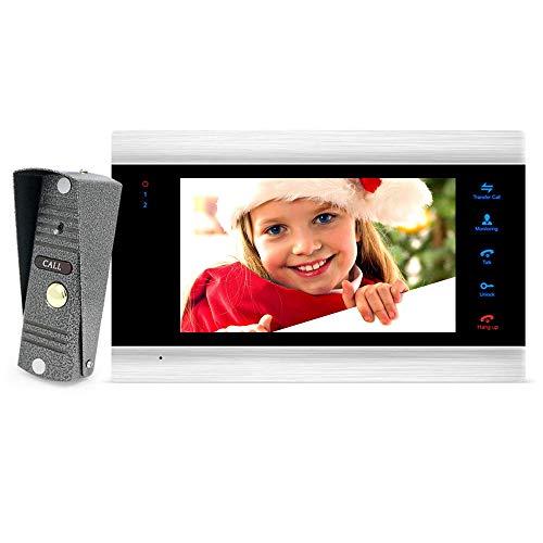 BCOM-New-7-inch-Video-Doorbell-Monitor-Intercom-with-1200TVL-Outdoor-Camera-IP65-Door-Phone-Intercom-System