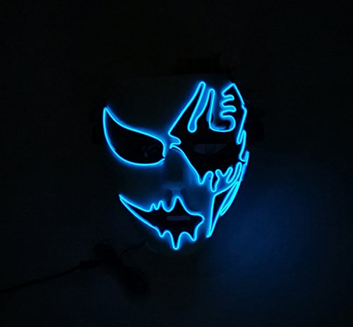2017 Halloween Horror Light Up Clown Mask - Scary Mask Halloween ...