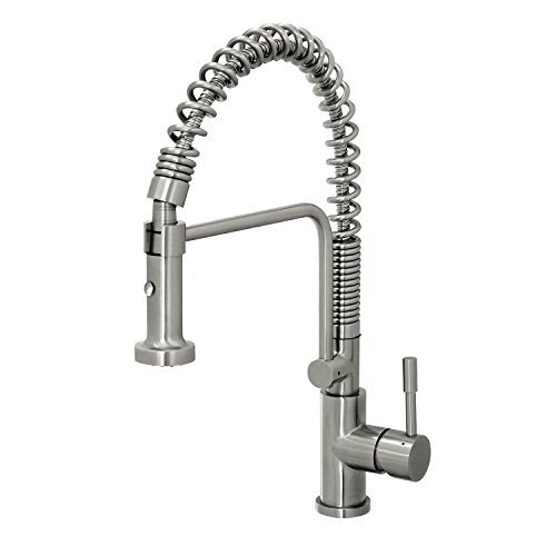 Geyser GF51-S Geyser Stainless Steel Commercial-Style Coiled Spring Kitchen Pull-Out Faucet by Geyser