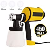 Paint Sprayer Power Painter Electric Sprayer HVLP Paint Guns for Home w/ 3 Nozzle Sizes, Lightweight, Easy Spraying and Cleaning, Perfect for Beginner