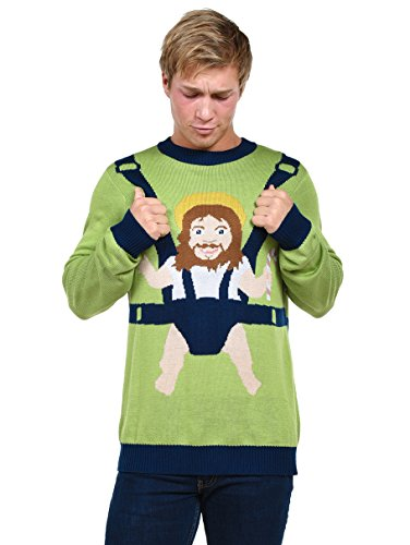 Funny Christmas Sweater.Tipsy Elves Men S Sweet Baby Jesus Ugly Christmas Sweater Funny Christmas Sweater