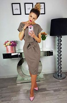 Sexy Short Sleeve Party Slim Dress