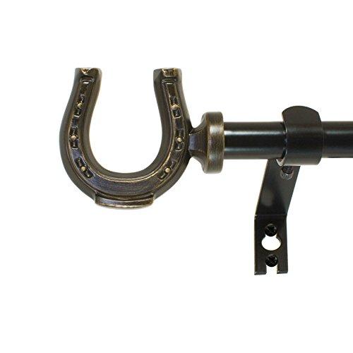 Horseshoe Curtain Rod Set
