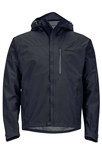 Marmot Minimalist Men's Lightweight Waterproof Rain Jacket, GORE-TEX with PACLITE Technology, Large, Jet Black