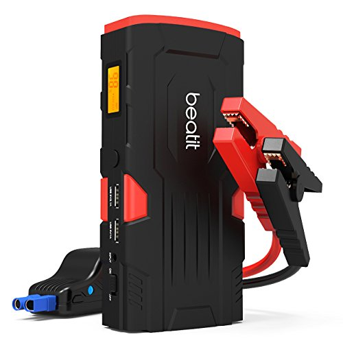 Beatit 800A Peak 18000mAh Portable Car Jump Starter With Smart Jumper Cables (Up to 6.0L Gas or 5.0 Diesel Engines) Auto Battery Booster Power Pack Phone Power Bank With Smart Charging Ports