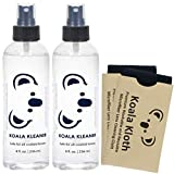 Koala Kleaner Alcohol Free Eyeglass Lens Cleaner Spray Care Kit   16oz + 2 Cloths   Safe for Cleaning All Lenses and Screens