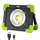 LE Portable LED Work Light, 20W, Rechargeable Outdoor Flood Light, 6000mAh Power Bank for Hiking, Working, Car Repairing, Workshop and More