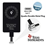 Wireless Charger Receiver Qi Charging Adapter Compatible Samsung Galaxy A8 A7 A5 A3 C9 C7 Pro Plus Google Pixel 2 XL Nexus 5X 6P LG Stylo 4 Moto G6 G5 Z2 Play X Motorola for USB Type C Android Charge
