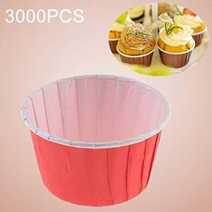 JIXIAO Mold 3000 PCS Round Lamination Cake Cup Muffin Cases Chocolate Cupcake Liner Baking Cup, Size: 5.8 x 4.4 x 3.5cm (Green) (Color : Red) 41R qWxGLHL