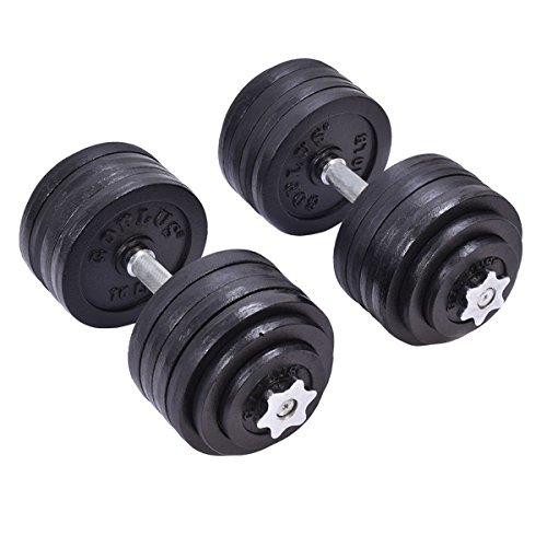 Giantex 200 LB Weight Dumbbell Set Adjustable Cap Gym Barbell Plates Body Workout