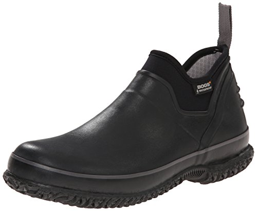 Bogs Men's Urban Farmer Low Waterproof Work Rain Boot, Black, 11 D(M) US