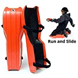 Sled Legs Wearable Snow Sleds - Fun Winter Accessories with Leg Support - Family Friendly Winter Activities - Exciting Winter Fun in The Snow (Hot Orange, Large) ...
