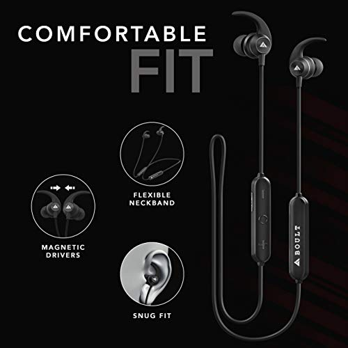 41RBF2wT1BL Boult Audio ProBass X1-WL in-Ear Wi-fi Earphones with eight Hours Battery Life, Newest Bluetooth 5.0, IPX5 Sweatproof Headphones with mic (Black)