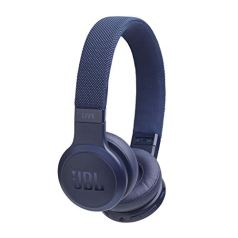 JBL Live 400BT Wireless On-Ear Voice-Enabled Headphones with Alexa (Blue)