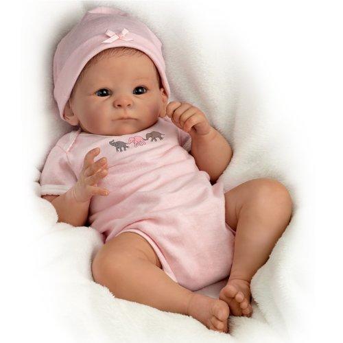 The Ashton - Drake Galleries Tasha Edenholm So Truly Real Lifelike Poseable Baby Girl Doll: Little Peanut - 17'