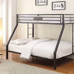 ACME Limbra Twin XL/Queen Bunk Bed – 38000 – Sandy Black