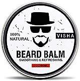 Beard Balm,Miyshow Beard Conditioner Organic Natural Moustache Cream Soften Beards -Leave in Conditioner for Men Beard Care (white)