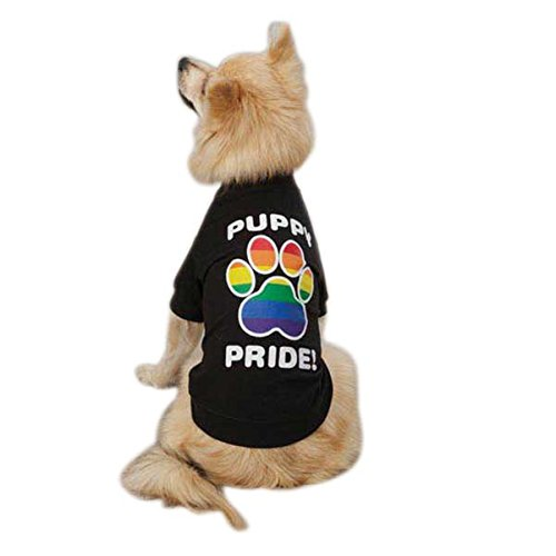 Casual Canine Puppy Pride Pet Tee Shirt - Black 1