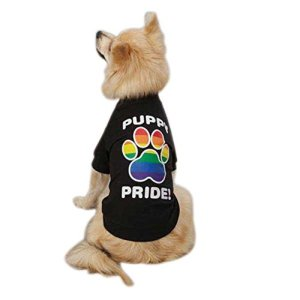 Casual Canine Puppy Pride Pet Tee Shirt – Black