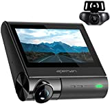 APEMAN 4K Dash Cam with OLED Touch Screen, Built-in GPS, Wi-Fi, Front and Rear Dash Camera for Cars with Parking Mode, Super Night Vision