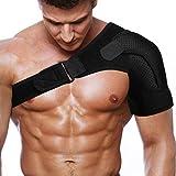 Rotator Cuff Brace for Men Women Shoulder Brace Support with Adjustable Belt and Sleeve, Pressure Pad for ice or hot Pack for Shoulder Impingement Syndrome
