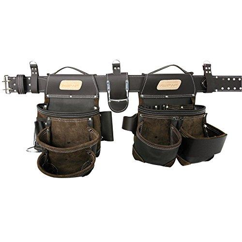 AWP HP General Construction Leather Belt Flip Pocket Tool Rig