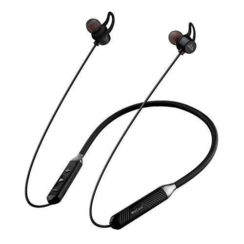 41RMsWzaMmL WeCool N1 Bluetooth Headphones with Dynamic Drivers for Immersive Music Expertise, IPX5 Sweatproof, 12 Hours Playtime, Versatile Neckband Earphones (Black)