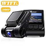 """Blusmart Dash Cam, Full HD 1080P Dashboard Camera, WDR Driving Recorder with WiFi, 170° Angle Lens, 2.45"""" IPS Display, Loop Recording, G-Sensor, and Night Vision, Supports 32GB Micro SD Card"""