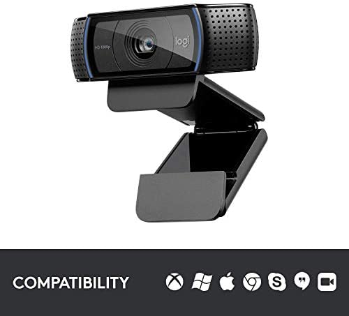 Logitech C920x HD Pro Webcam, Full HD 1080p/30fps Video Calling, Clear Stereo Audio, HD Light Correction, Works with Skype, Zoom, FaceTime, Hangouts, PC/Mac/Laptop/Macbook/Tablet - Black 17