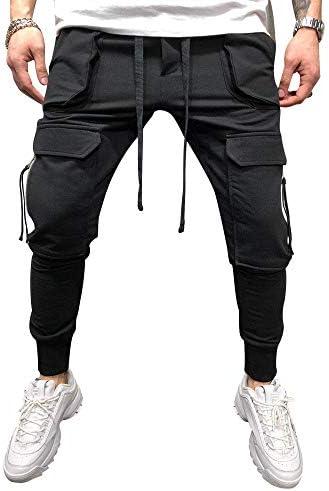 lexiart Mens Fashion Athletie Cargo Pants - Casual Joggers Sweatpants Slim Fit Pants 1
