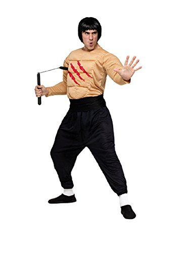 Bruce Lee costumes for men - Kung Fu Master Costume - Standard - Chest Size 33-45