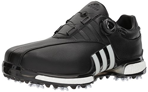 adidas Men's TOUR360 EQT Boa Golf Shoe, FTWR White/core Black, 12 Medium US