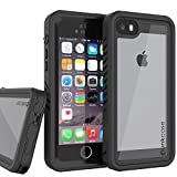 Punkcase SE Waterproof Case [Extreme Series] [Slim Fit] [IP68 Certified] [Shockproof] [Snowproof] Armor Cover W/Built in Screen Protector Compatible W/Apple iPhone 5/5s & Apple iPhone SE (Black)