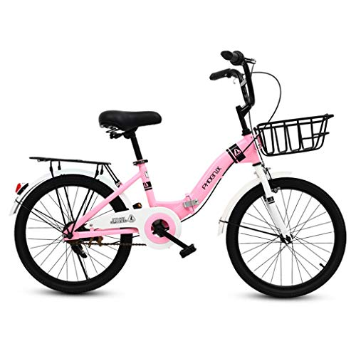 Kids' Road Bicycles Kids' Balance Bikes Children's Folding Bike 16-inch Student Folding Bicycle Girl 6-12 Year Old Pink Bicycle Outdoor Mountain Bike Road Cycling Bicycle