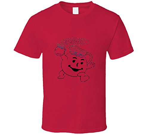 Red Kool-aid Distressed style T Shirt L Red