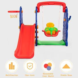 Costzon-Toddler-Climber-and-Swing-Set-4-in-1-Climber-Slide-Playset-wBasketball-Hoop-Toss-Easy-Climb-Stairs-Kids-Playset-for-Both-Indoors-Backyard4-in-1-Slide-Swing-Set