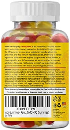 ACV Gummies - Raw Apple Cider Vinegar with Mother (Vegan and Non-GMO - 90 Gummies) 3