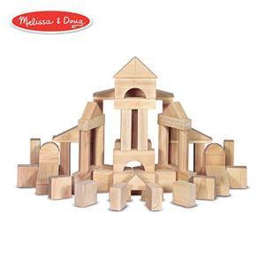 Melissa & Doug Standard Unit Solid-Wood Building Blocks with Wooden Storage Tray (60 pcs) 41RomKho7XL