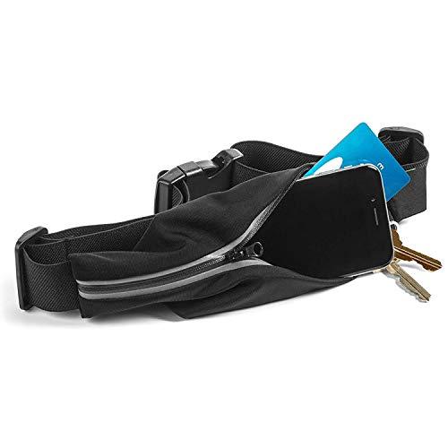 Unique Ideas Sport Running Marathon Waterproof Polyester Waist Bag Pouch and Belt (Black)