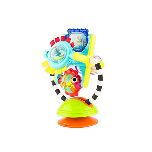 Sassy Fishy Fascination Station 2-in-1 Suction Cup High Chair Toy   Developmental Tray Toy for Early Learning   for Ages 6 Months and Up