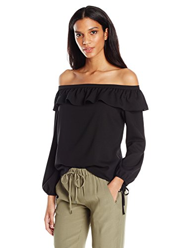 41Rs ZbicL Off the shoulder top Easy fit Ruffle detail