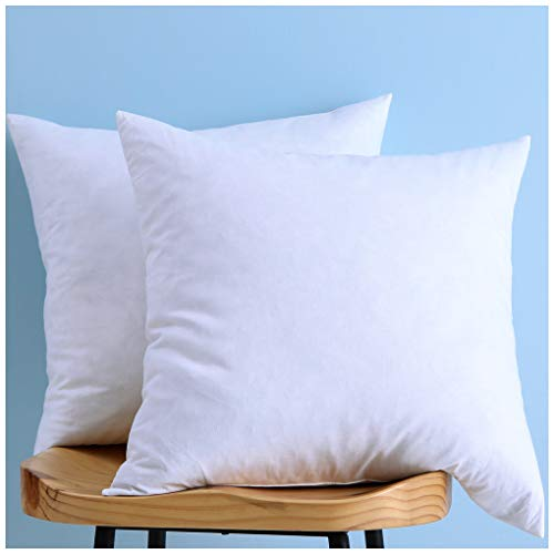 Set of 2, Cotton Fabric Two Pillow Inserts, Down and Feather Throw Pillow Insert, Decorative Pillows Inserts, Have Many Different Sizes, Please Choose the Suitable Size Pillow Inserts, 18X18 Inches
